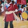 Hira-Gasy I Le petit chanteur (65x80 cm) Acrylique sur toile