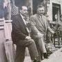 anni '50 Via Roma sartoria Madeo e bazar De Carlo( da sx mastro Marcello Madeo e Francesco De Carlo, noto come Ciccill'i Murruni)