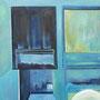 Geteilte Ansichten, 2014, Acryl/Öl auf Leinwand, 40x50cm