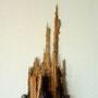 Ohne Titel - 6,   2012, Collagen auf Holzkörper 23 x 50 cm