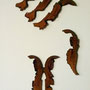 Ohne Titel - II   2012, Collagen auf Holzkörper je  23 x 50 cm