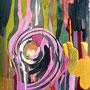 Laufmaschen 2006, Acryl auf Papier 30x42 cm