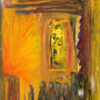 Durchblick  2004, Acryl auf Papier 30x40 cm