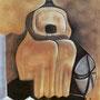 Die Essigmutter 2007, Kohle auf braunem Papier 60x80 cm