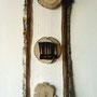 Ohne Titel - 4,   2012, Collagen auf Holzkörper 23 x 50 cm