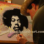 HadesL malt mit Pinsel Jimi Hendrix