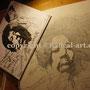 Jimi Hendrix eine Skizze