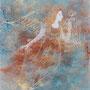 空に昇る天使 ガラス絵 個人蔵