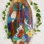 森の小さなチェリスト 木 アクリル            個人蔵