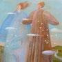 土の神様風の神様 F3号 キャンバス アクリル 個人蔵