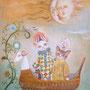 ひと夜の夢 CARNAVAL  F4号 アクリル キャンバス 個人蔵
