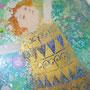 春の野の妖精 ガラス絵 個人蔵