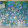 野ばら咲く森の中で  P12号  アクリル キャンバス