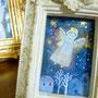 ラッパを吹く天使 ガラス絵