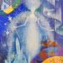 雪の女王 ガラス絵 個人蔵