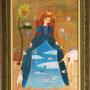 青空ドレス B5 キャンバスボード アクリル 個人蔵