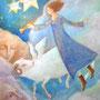 夜空の精霊達 F6号 キャンバス アクリル   展示予定あり