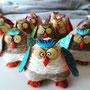 gufetti decorativi in canapa e pasta modellabile disponibili in vari colori