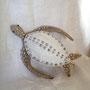 tartaruga marina, filo di ferro spaghi e canapa