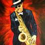 JazzMan (2007), 100 x 80 cm