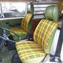 VW Bus T2 Sitze neu gepolstert und mit original Stoff neu bezogen.