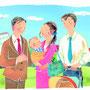 東京法規出版 「仕事と家庭の両立」リーフレット表紙