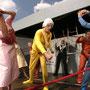 Der zerbroch'ne Krug; Kulturmobil Niederbayern; Deml, Funk, Meile Fischer, Kupfer; Foto Harry Zdera