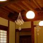 日本民藝館 西館/旧柳宗悦邸。北海道産小麦で作る麦わら細工を教えていらっしゃる先生のワークショップにて。