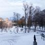 雪景色の酪農学園大学。昨日はヒンメリプロジェクトの展示の準備と午後から授業がありました。
