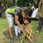 竹切り中1