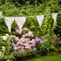Wimpelkette Hochzeit Hochzeitsdeko Nähanleitung Freebie Freebook Nähanfänger Resteverwertung Stoffreste Spitzenreste