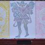 Ternura eterna et arcangel,triptyque ,technique mixte ,sur toile 243 X 116 cm,(10 tirages ) 2012