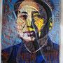 Mao,technique mixte  sur papier 460 g  41 X 33 cm ,2013