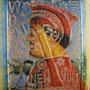 La Hoz y el Martillo,technique mixte  marouflé sur toile ,48 x 36 cm 2013