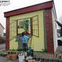 Stromhaus in Berlin Karow mit Illusionsmalerei Verschönert