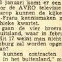 Krantenknipsel jan. 1960
