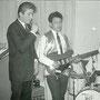 THE VALIANTS in Leiden (1961) - vlnr: Wouter Surie, Teddy Grey, Oely Ros, Ben van Bergen, Hans Consten (fotocollectie: Teddy Grey)