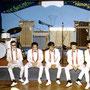 THE SKY METEORS (Les Galeries, Scheveningen, juli 1964) vlnr: Wim Onstein, Johnny Fortuin, Eddy Flohr, Ronny Abuys, Jeffrey Zitter