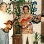 KEES VAN DER LINDEN en HANS BAX (1991) Met de Höfner gitaren van Kees uit 1960