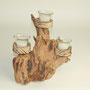 Wildholzkerze 3, inkl.3 Teelichter, 43cm x 24cm x 26cm, Euro 24,00