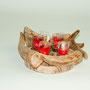 Wilholzkerze 5, inkl. 4 Teelichter, rot, 33cm x 33cm x 12cm, Euro 24,00