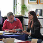 Dal Libraio Mendrisio 2013, con Barbara Hunziker (foto R. Sanna)