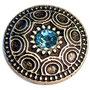Zierniete Freya hellblau groß 25x25 4,30 Euro und klein 15x15 3,00 Euro je Stück (andere steinfarben möglich)