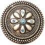 Ziewrniete flower hellblau groß 30 x 30 mm 4,30  Euro je Stück