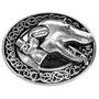 Zierniete Greyhound in messing altmessing,silber und altsilber 35x29mm