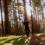 ....am Weg auf die Wildwiese, durch die Bergwälder des Jogllandes, yeah.