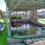 グランド内の池