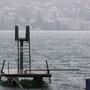Gewitter zur Startzeit des Schwimmwettbewerbs