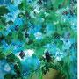 Blaue Blumen, 2006 | Öl-Acryl auf Leinwand | 42 x 32 cm