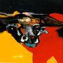 Kuh 1, 1995 | Acryl auf Karton | 65 x 70 cm